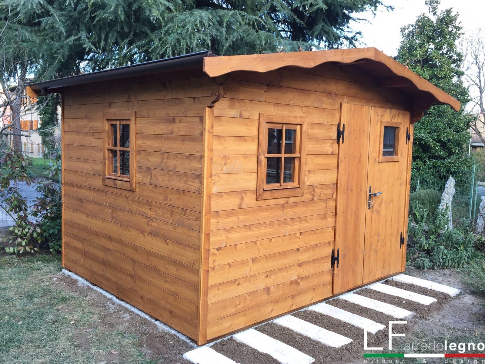 Pedana Di Legno Per Giardino casetta in legno da giardino - lf arredo legno