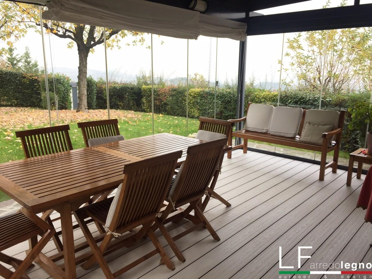 Terrazze Chiuse Con Vetrate vetrate per la chiusura di verande, portici e tettoie - lf